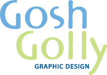 Gosh Golly Graphic Design Logo